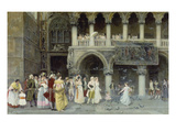 A Venetian Wedding, 1900 Giclee Print by Gabriel Puig Roda