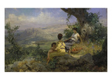 Rest During the Apple Harvest, 1896 Giclee Print by Genrikh Ippolitovich Semiradski