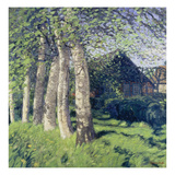 Spring in Worpswede, about 1900 Reproduction procédé giclée par Hans Am Ende