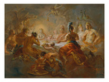 Eris Throws the Golden Apple Among the Wedding Guests of Peleus and Thetis, 1782 Giclee Print by Martin Johann Schmist