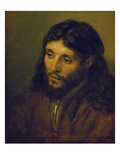 The Head of Christ Prints by  Rembrandt van Rijn