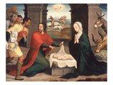 Adoration of the Shepherds, 1550/60 Giclee Print by Juan Correa de Vivar