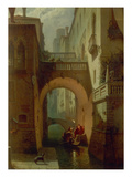 Der Palazzo Vendramin Bei Nacht. Gegen 1863 Giclee Print by Eduard Gerhardt