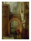 Der Palazzo Vendramin Bei Nacht. Gegen 1863 Giclee Print by Eduard Gerhardt