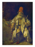 The Old Man with the Red Cap. (Undated) Giclee Print by  Rembrandt van Rijn