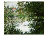 View Through Trees Trees on the Ile De La Grande Jatte, 1878 Giclee Print by Claude Monet