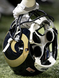 St. Louis Rams - Aug 13, 2011: St Louis Rams Helmet Photographic Print by Tom Gannam