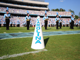 University of North Carolina: UNC Cheerleaders and Band Fotografisk tryk