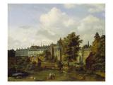 Old Palais in Brussels, Zoological Garden Giclee Print by Jan Van Der Heyden
