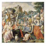 The Israelites Collecting Manna Reproduction procédé giclée par Maarten de Vos