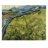 Field at Sunrise, 1890 Giclee Print by Vincent van Gogh