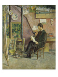 Portrait of Doctor Martinez in the Artist's Studio, 1878 Prints by Jean Baptiste Armand Guillaumin