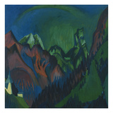 Mt.Tinzenhorn, the Zuegen Ravine Near Monstein, 1919/20 Giclee Print by Ernst Ludwig Kirchner