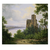 View of the Danube Valley with the Ruins of Castle Greifenstein Giclee Print by Wilhelm Steinfeld