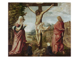 Christ on the Cross with Mary and John Giclee Print by Albrecht Altdorfer