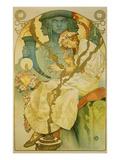 Plakat Fuer Die Ausstellung Das Slawische Epos, 1928 Print by Alphonse Mucha