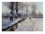 Winterlandschaft Bei Broendbyvester.1927 Giclee Print by Peder Moensted