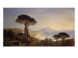 A View of the Bay of Naples, 1839 Giclee Print by William James Muller