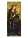 Virgin Mary. Copy after Van Eyck (Ghent Altarpiece) Giclee Print by Michiel Coxcie