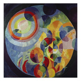 Circular Shapes, Sun and Moon, 1912/31 Gicle-tryk af Robert Delaunay