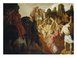 The Stoning of St. Stephen, 1625 Giclee Print by  Rembrandt van Rijn