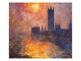 The Parliament Building in London During Sunset, 1904 Giclee Print by Claude Monet