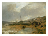 Beach Scene, 1880 Reproduction proc&#233;d&#233; gicl&#233;e par Andreas Achenbach