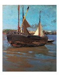 Fishing Cutter Giclee Print by Carl Vinnen