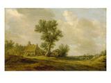 Landschaft Mit Bauernhaeusern Giclée-Druck von Jan Van Goyen