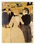 Moulin Rouge (La Goulue Et La Mome Fromage) Reproduction procédé giclée par Henri de Toulouse-Lautrec