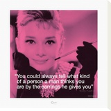 Audrey Hepburn: Earrings Stretched Canvas Print