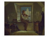 The Violinist at the Window, about 1860 Giclee Print by Moritz Von Schwind