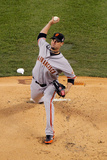 Detroit, MI - Oct 27: Detroit Tigers v San Francisco Giants - Ryan Vogelsong Photographic Print by Doug Pensinger