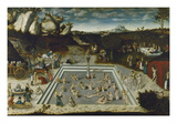 The Fountain of Youth, 1546 Giclée-tryk af Lucas Cranach the Elder