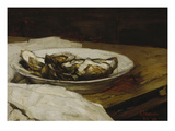 A Plate with Oysters, 1884 Giclee Print by Karl Hagemeister