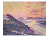 Sunset of Ambleteuse, Pas De Calais, 1899 Giclee Print by Theo van Rysselberghe