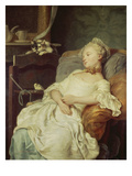 Napping Girl Giclee Print by Jean Francois Colson