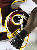 Washington Redskins - Aug 29, 2012: Washington Redskins Helmet Photographic Print by Nick Wass