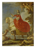 Dona Mariana Von Neuburg Zu Pferde Posters by Luca Giordano