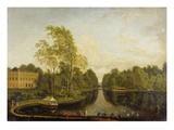 Ehemaliger Oberer See Mit Schloss Schoenbusch (Aschaffenburg) Und Kanal. Um1785 Giclee Print by Ferdinand Kobell