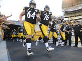 Pittsburgh Steelers - Sept 16, 2012: Doug Legursky, Mike Adams Photographic Print by Don Wright
