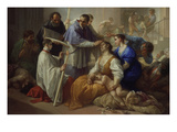 St. Charles Borromeo with Plague Victims, 1713 Giclee Print by Benedetto Luti
