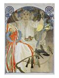 Plakat Fuer Das Gesangs- Und Musikfest Fruehling 1914 in Prag, 1914 Prints by Alphonse Mucha