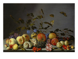 Nature morte avec fruits Reproduction procédé giclée par Balthasar van der Ast