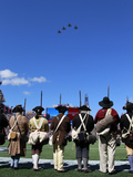 New Englad Patriots - Sept 16, 2012: the Minutemen Watch the Gillette Stadium Flyover Fotografisk trykk av Steven Senne
