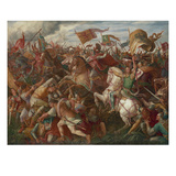 Rudolf of Habsburg Prevailing over Ottokar Ii. (Battle on the Marchfeld) 1278 Prints by Julius Schnorr von Carolsfeld