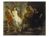 Orpheus Fuehrt Eurydike Aus Dem Hades, 1636/38 Giclee Print by Peter Paul Rubens