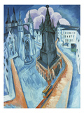 The Red Tower in Halle, 1915 Giclee Print by Ernst Ludwig Kirchner