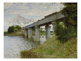 The Railway Bridge at Argenteuil, about 1873/74 Giclee Print by Claude Monet
