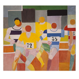 Les Coureurs, 1926 Reproduction procédé giclée par Robert Delaunay